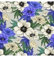 Anemone seamless pattern vector image vector image