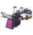 baggage for travel vector image vector image