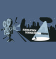 banner for science fiction movies festival vector image vector image