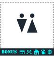 bathroom icon flat vector image vector image