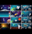 big space scene set vector image vector image