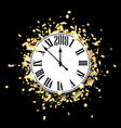 black 2018 new year background vector image vector image
