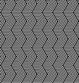 Black and white striped horizontal hexagons vector image