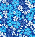 Blue and white floral seamless pattern vector image vector image
