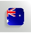 Button - Australia Flag Icon vector image