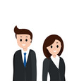 cartoon man and woman in business suit vector image vector image