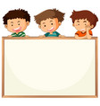 children on whiteboard template vector image