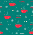 christmas coffee pattern vector image vector image