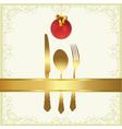 Christmas menu cover vector image vector image