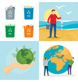 clean world day banner concept set flat style vector image