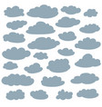 cloud silhouettes collection set of clouds vector image vector image