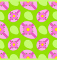 colorful seamless pattern of sweet easter eggs vector image