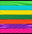 comic page colorful horizontal banners