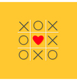 cris cros red heart yellow background Love Flat vector image vector image