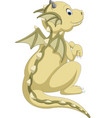 cute baby dragon cartoon vector image