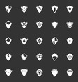 Design shield icons on gray background vector image vector image