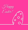 Dotted Easter egg simple line holiday poster vector image