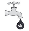 faucet with petroleum or oil drop design vector image vector image