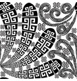 floral black and white isolated greek seamless vector image vector image