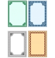 frame for design of certificates and diplomas vector image vector image