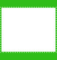 green and white rectangle border of dogs paws vector image