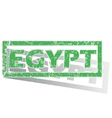 Green outlined Egypt stamp vector image