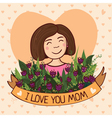 Greeting card i love you mom vector image vector image
