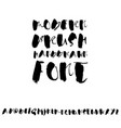 grunge distress font modern dry brush ink letters vector image