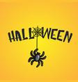 halloween cartoon with spider vector image vector image
