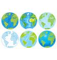 hand drawn globe vector image vector image