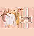 happy father day family holiday male clothes vector image