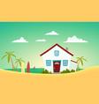 house beach vector image vector image
