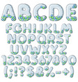 inflatable alphabet numbers signs with balls vector image