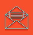 letter in an envelope sign vector image