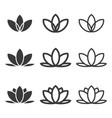 lotus flowers icon set vector image vector image