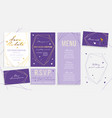 luxury wedding invitation card set for ceremony vector image
