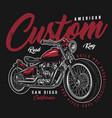 motorcycle colorful print vector image vector image