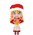 Mrs Claus with Chicken vector image vector image
