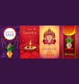 Navratri banner set cartoon style