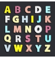 Needled alphabet color vector image vector image