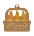 Packaging with beer cartoon icon vector image