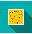 Paintball map icon flat style vector image