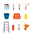 Painter Tools Objects Icons Set vector image vector image