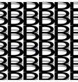 pattern letter b vector image vector image