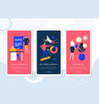personal growth course - set web pages vector image