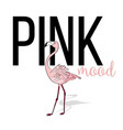 pink mood flamingo design pink exotic bird vector image