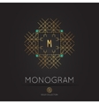 royal modern monogram logo template vector image