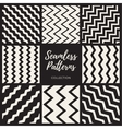 Seamless ZigZag Lines Patterns Collection vector image vector image