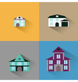 set house Buildings icon vector image vector image