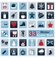 Set of winter icons vector image vector image